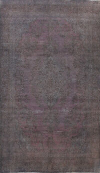 Distressed Over-dye Tabriz Persian Area Rug 8x12