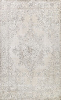 Muted Distressed Tabriz Persian Area Rug 10x12