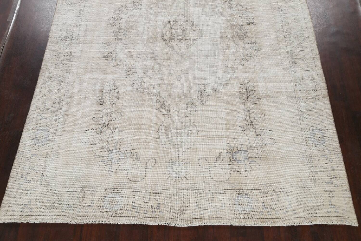 Muted Distressed Tabriz Persian Area Rug 9x12 image 8