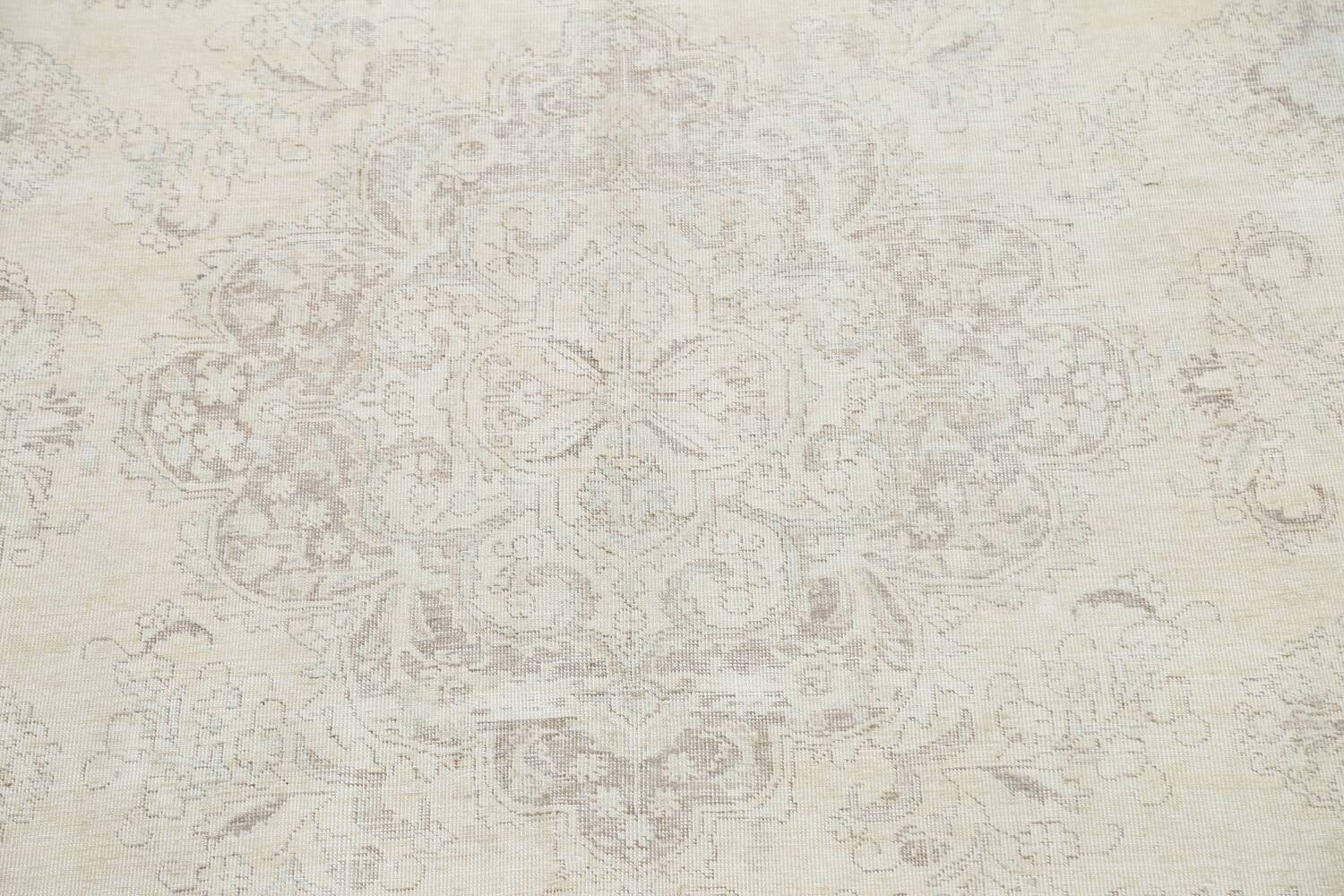 Muted Distressed Tabriz Persian Area Rug 10x12 image 4
