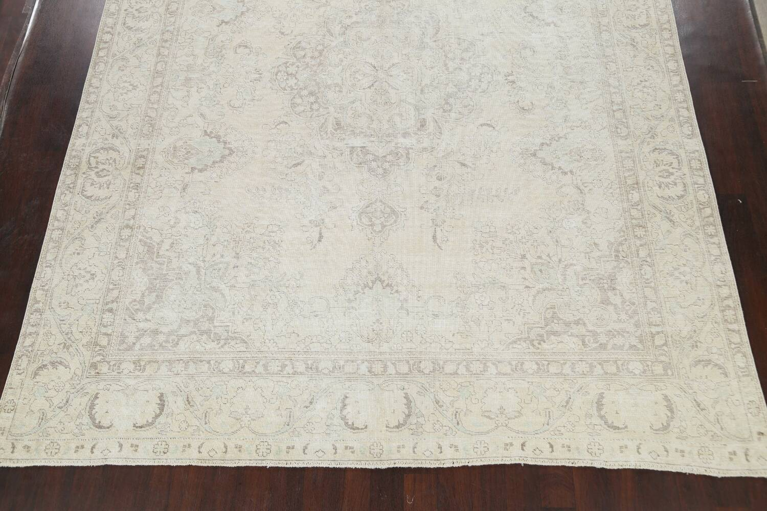 Muted Distressed Tabriz Persian Area Rug 10x12 image 8