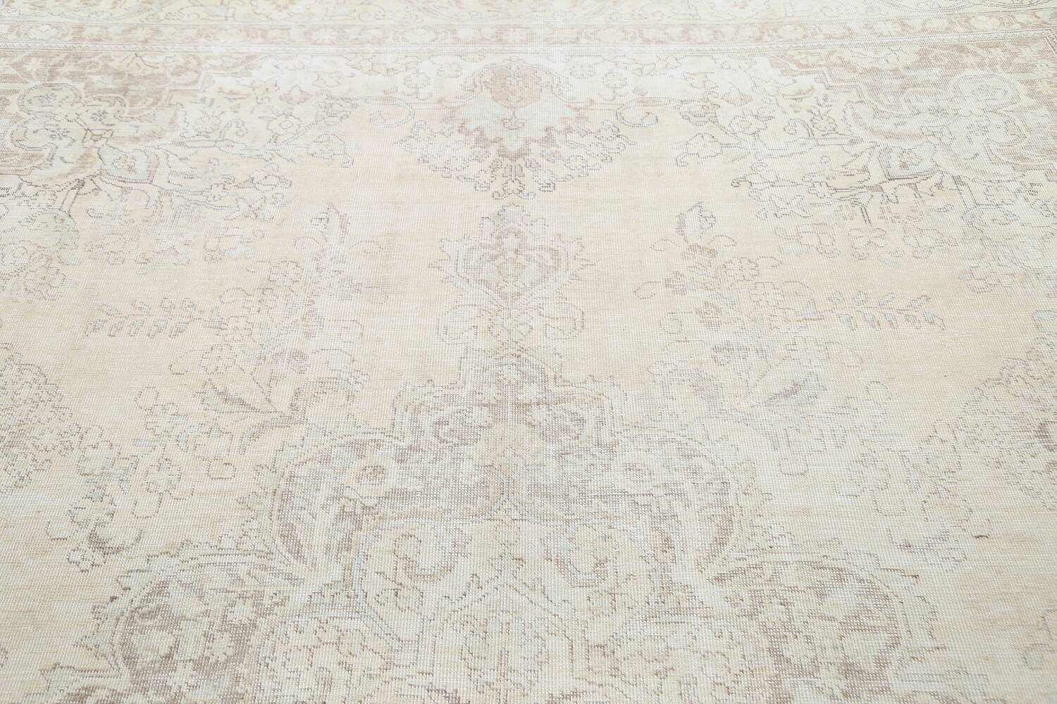 Muted Distressed Tabriz Persian Area Rug 10x12 image 12