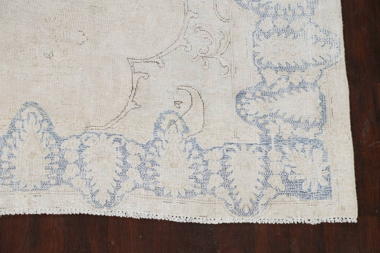 Antique Muted Distressed Kerman Persian Area Rug 9x11 image 5