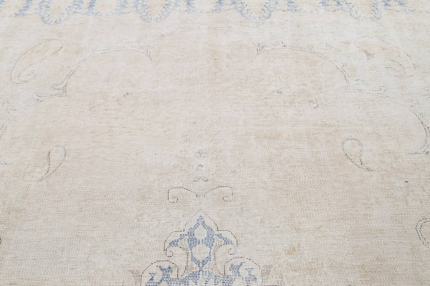 Antique Muted Distressed Kerman Persian Area Rug 9x11 image 12