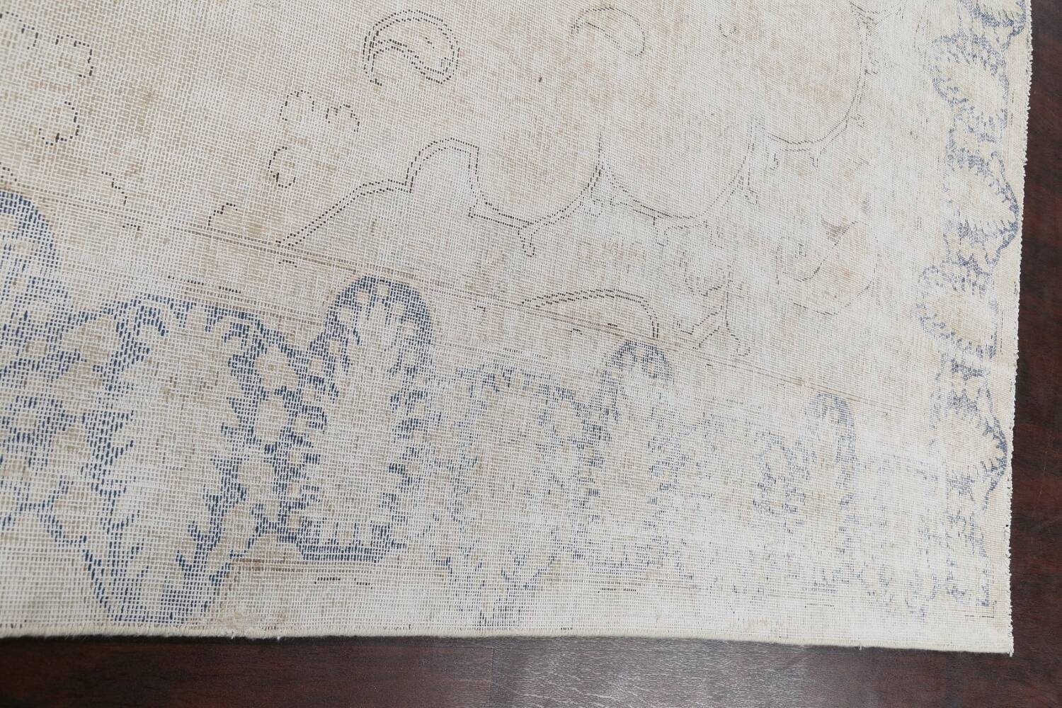Antique Muted Distressed Kerman Persian Area Rug 9x11 image 13