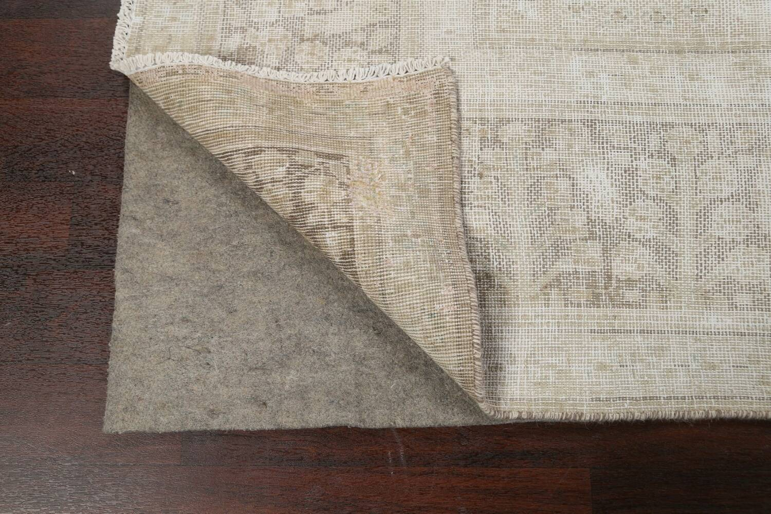 Antique Muted Distressed Tabriz Persian Area Rug 9x11 image 7