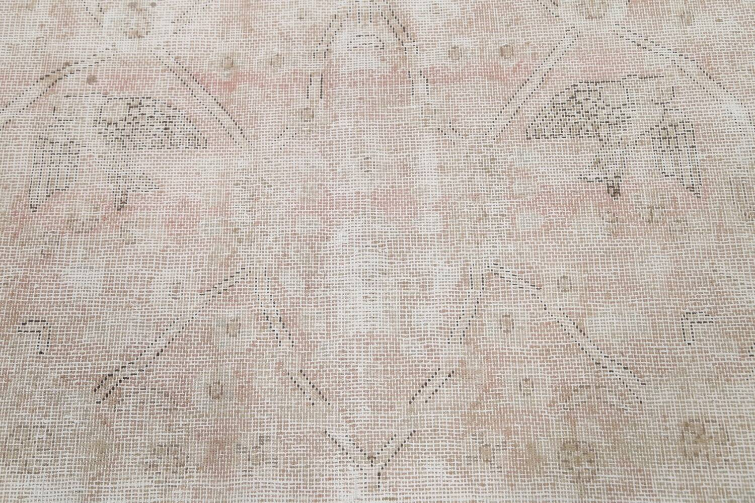Antique Muted Distressed Tabriz Persian Area Rug 9x11 image 11