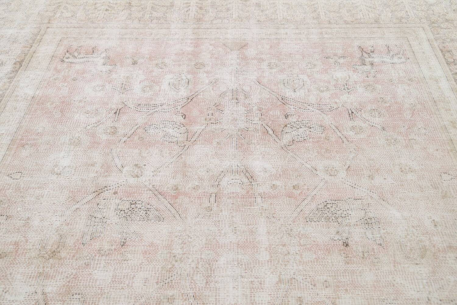 Antique Muted Distressed Tabriz Persian Area Rug 9x11 image 12