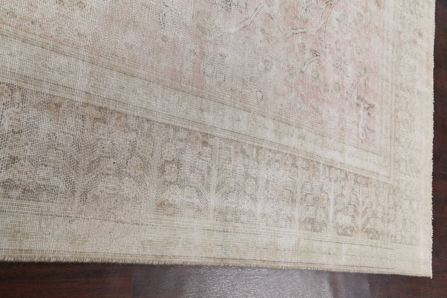 Antique Muted Distressed Tabriz Persian Area Rug 9x11 image 13