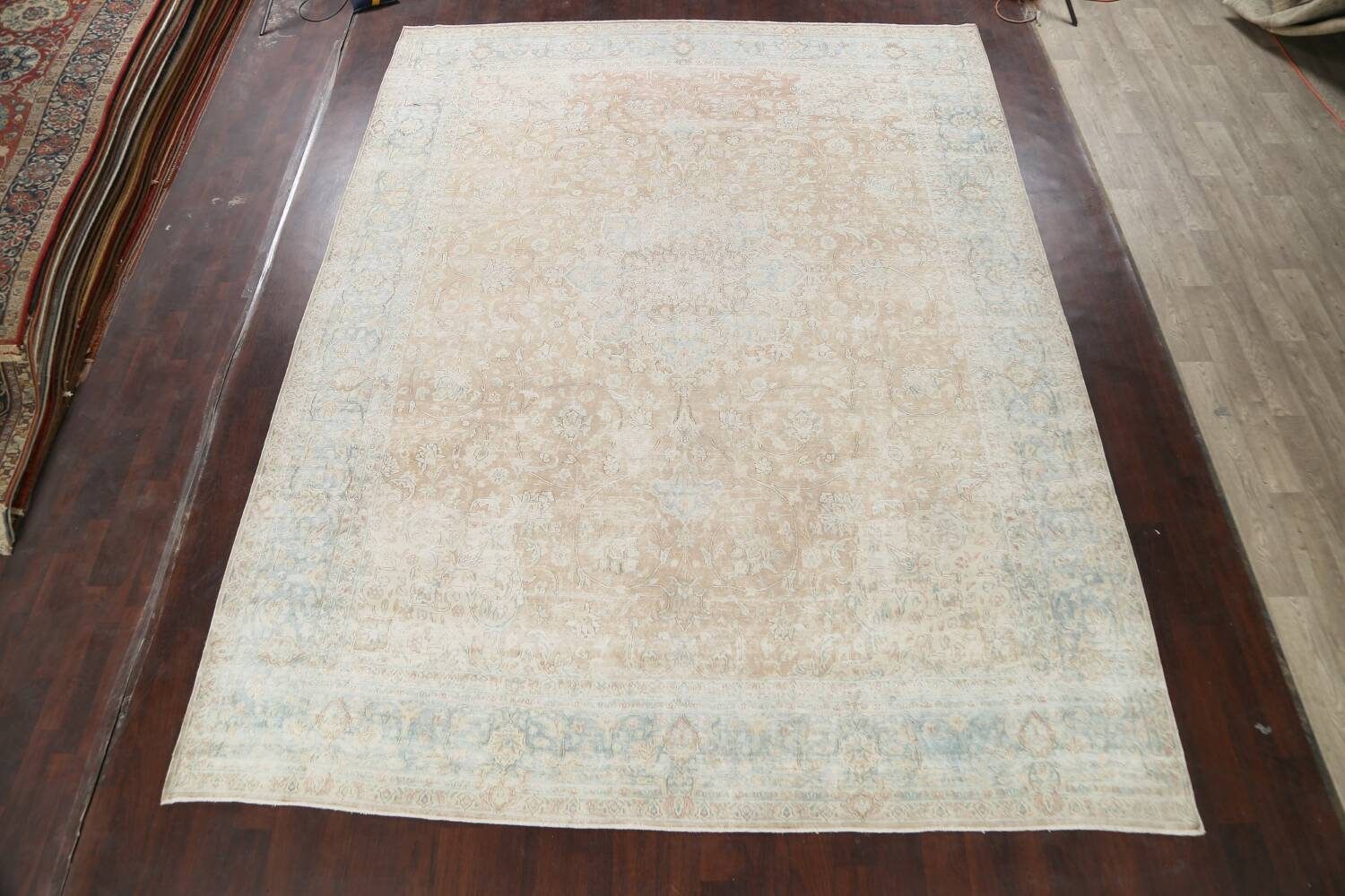 Muted Floral Kerman Persian Area Rug 10x13 image 2