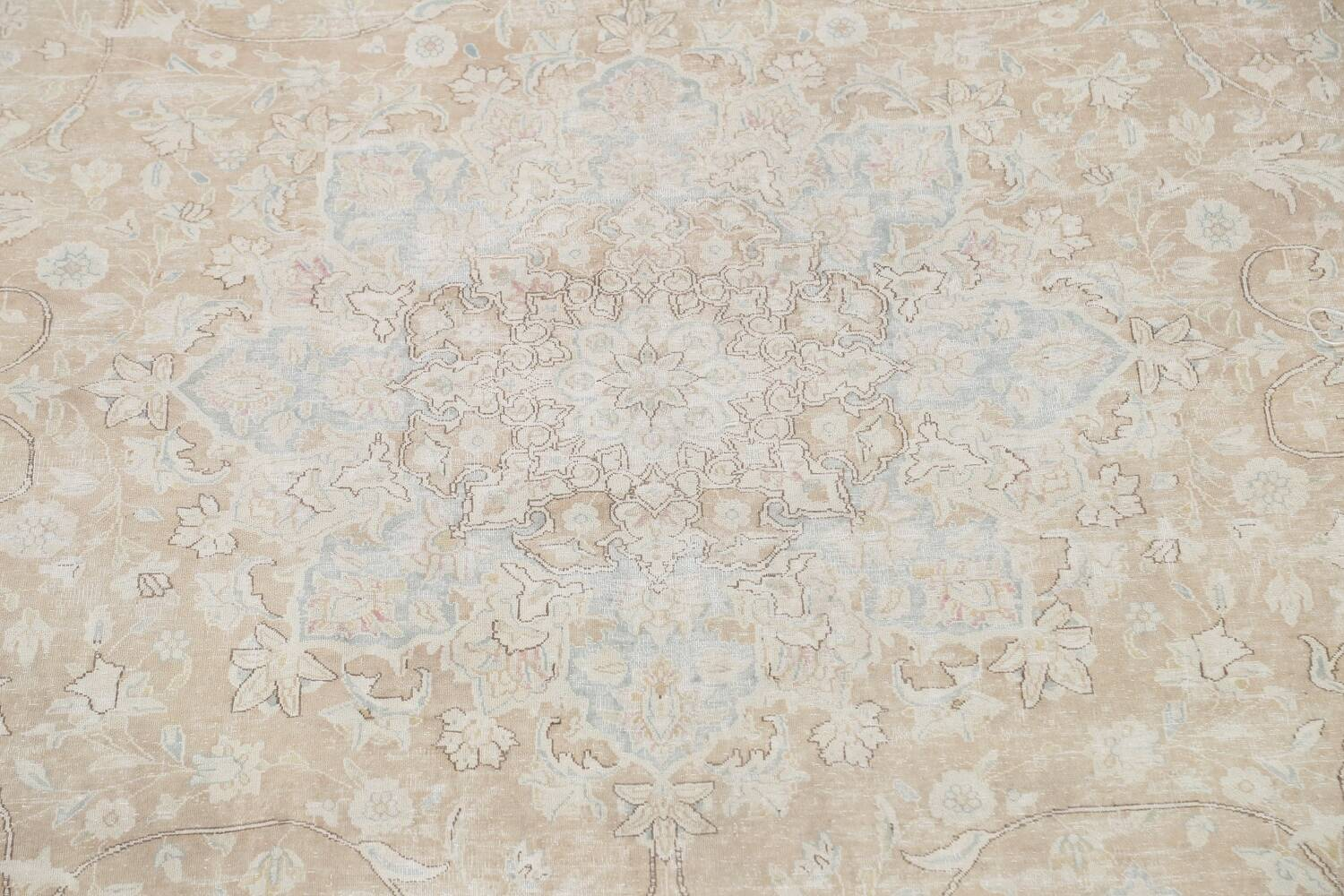 Muted Floral Kerman Persian Area Rug 10x13 image 4