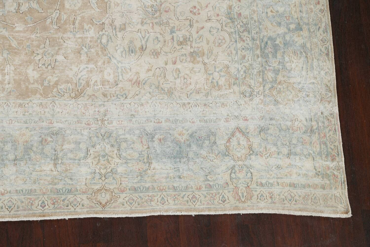 Muted Floral Kerman Persian Area Rug 10x13 image 5