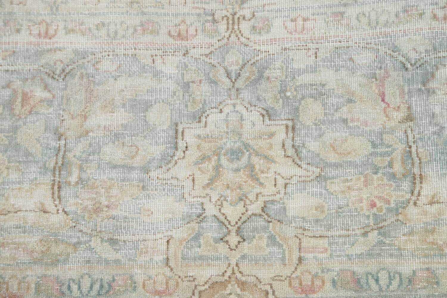 Muted Floral Kerman Persian Area Rug 10x13 image 9