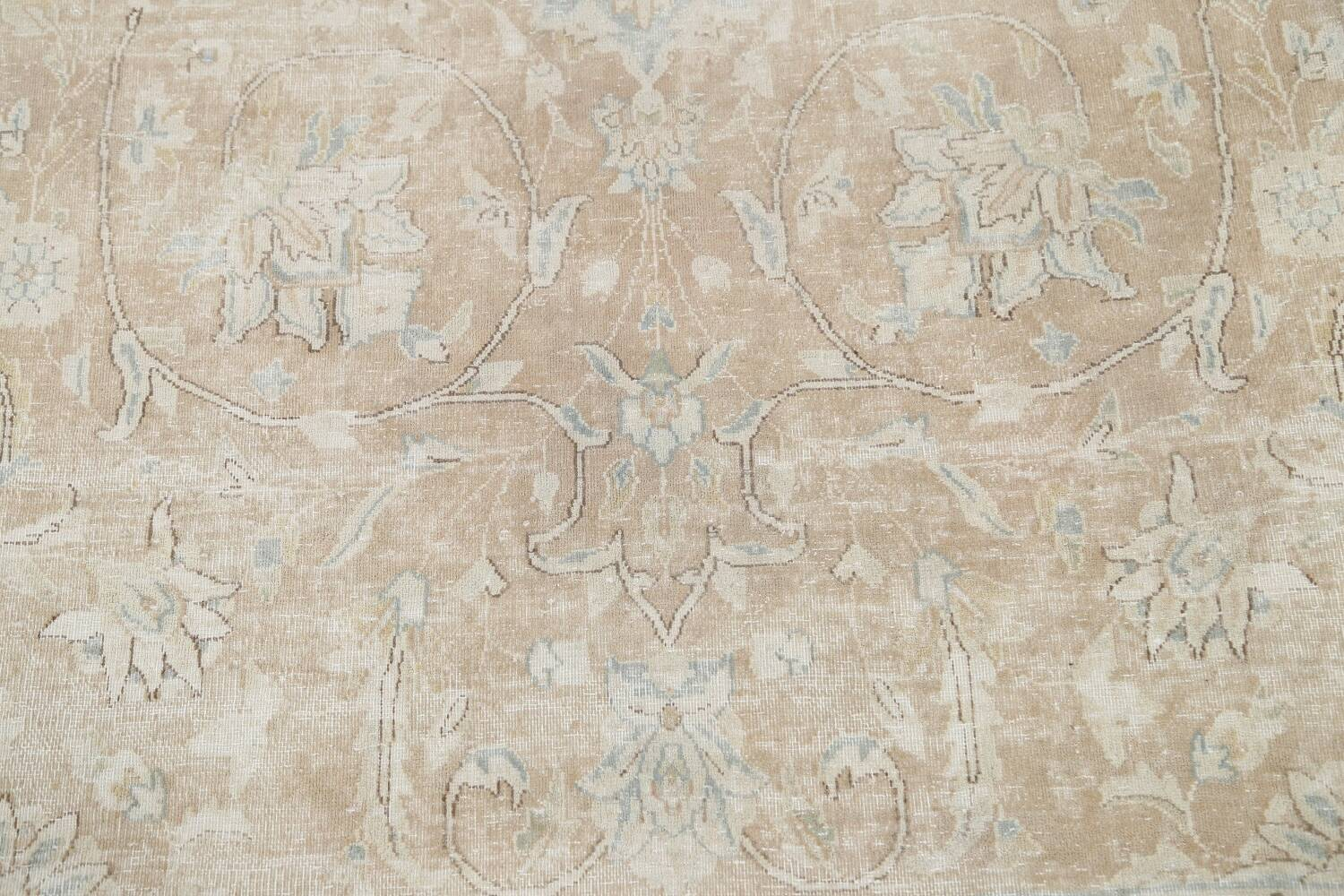 Muted Floral Kerman Persian Area Rug 10x13 image 10