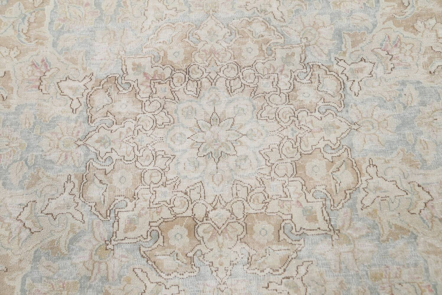 Muted Floral Kerman Persian Area Rug 10x13 image 11