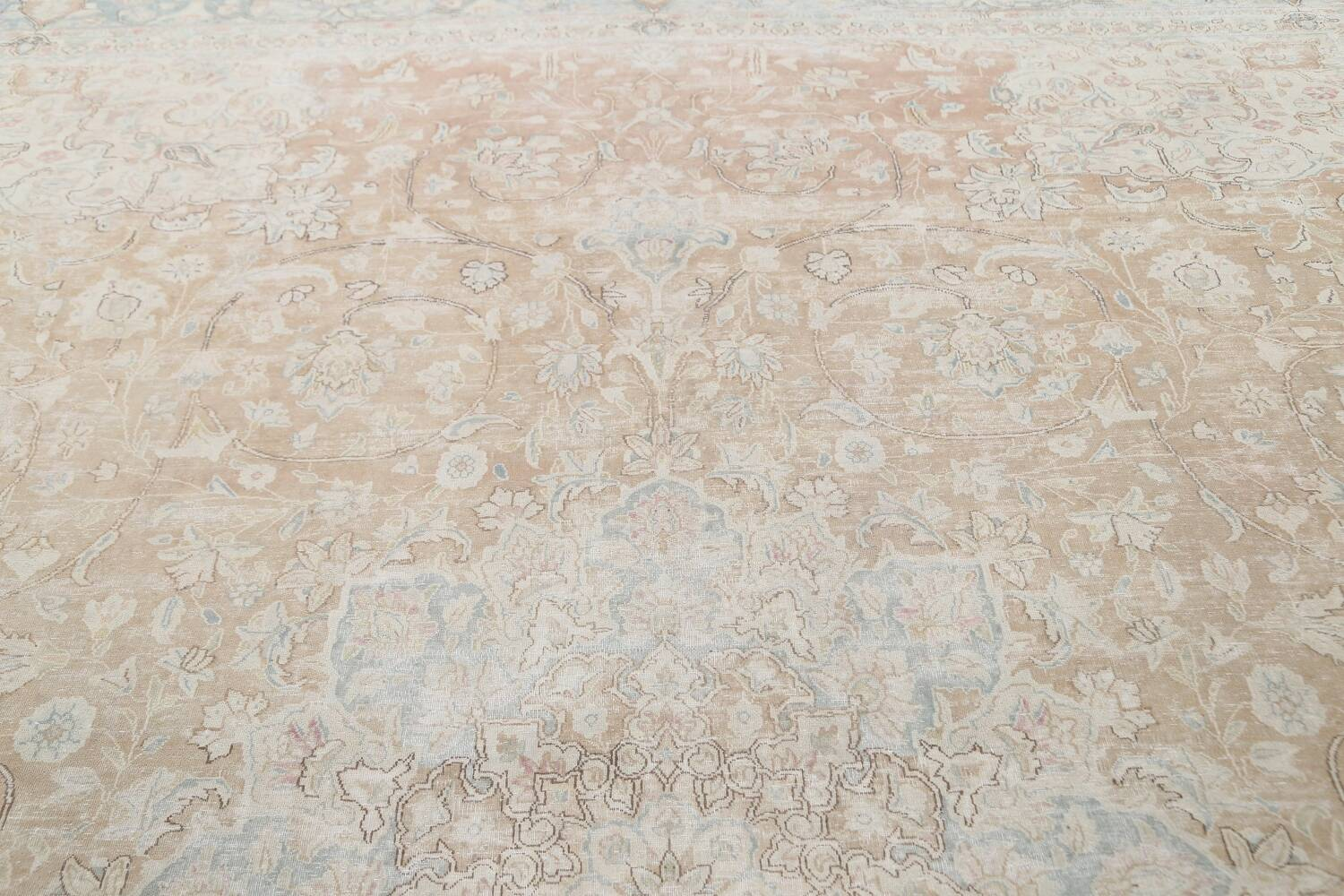 Muted Floral Kerman Persian Area Rug 10x13 image 12