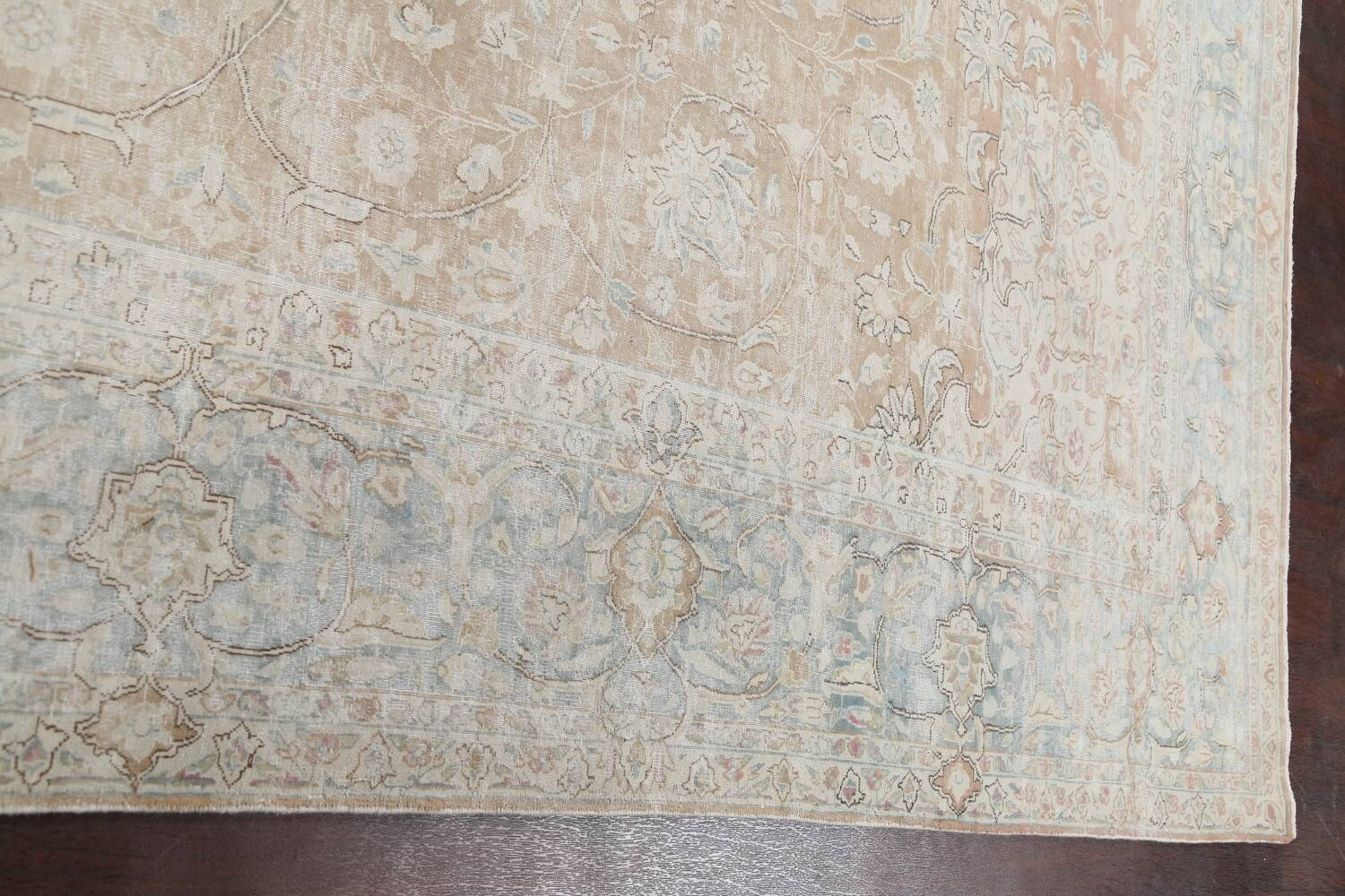 Muted Floral Kerman Persian Area Rug 10x13 image 13