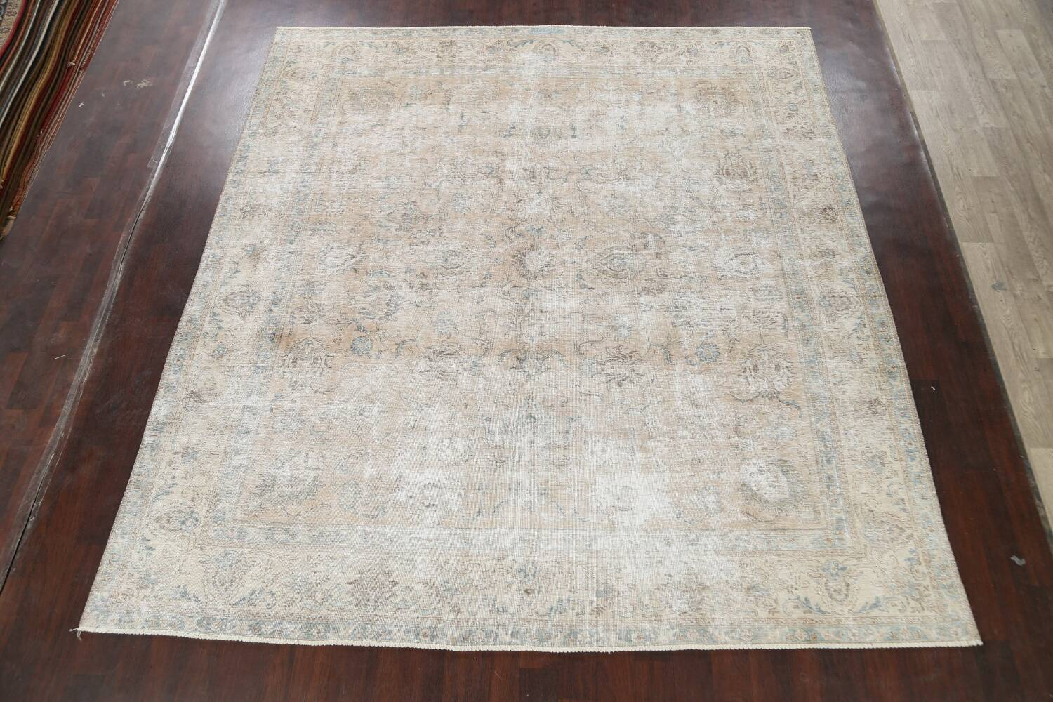 Muted Floral Tabriz Persian Area Rug 10x11 image 2