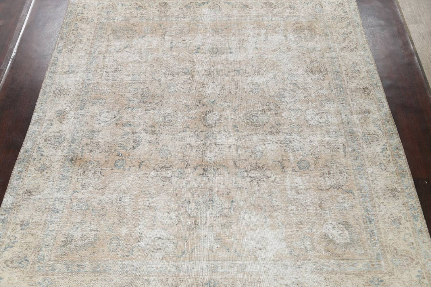 Muted Floral Tabriz Persian Area Rug 10x11 image 3