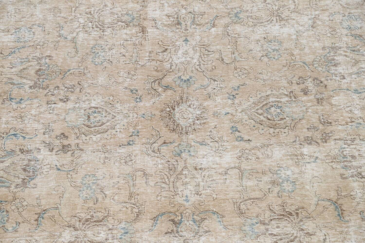 Muted Floral Tabriz Persian Area Rug 10x11 image 4
