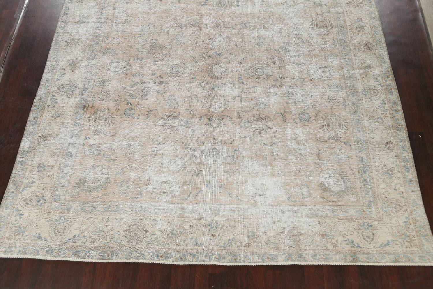 Muted Floral Tabriz Persian Area Rug 10x11 image 8