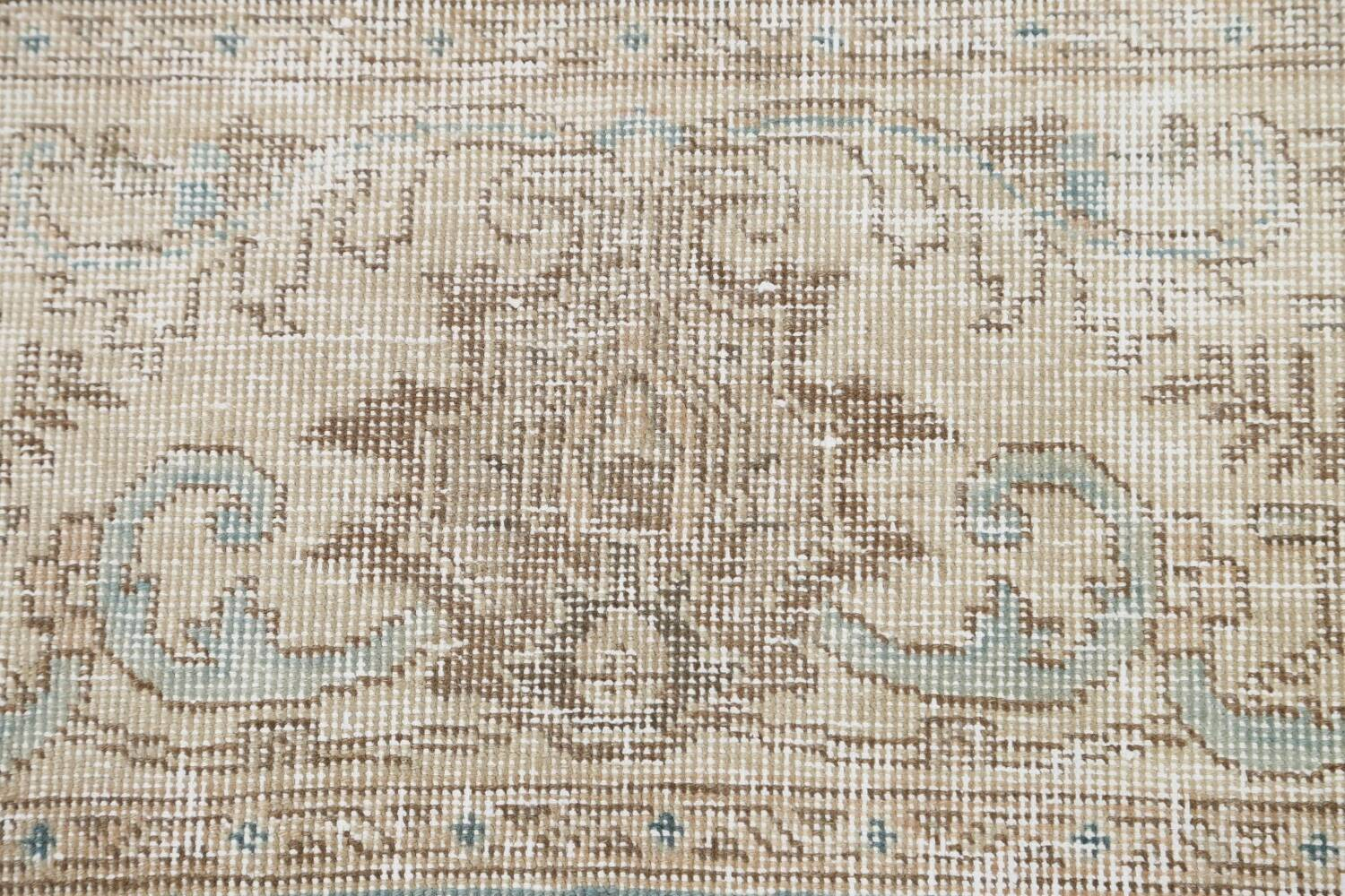 Muted Floral Tabriz Persian Area Rug 10x11 image 9