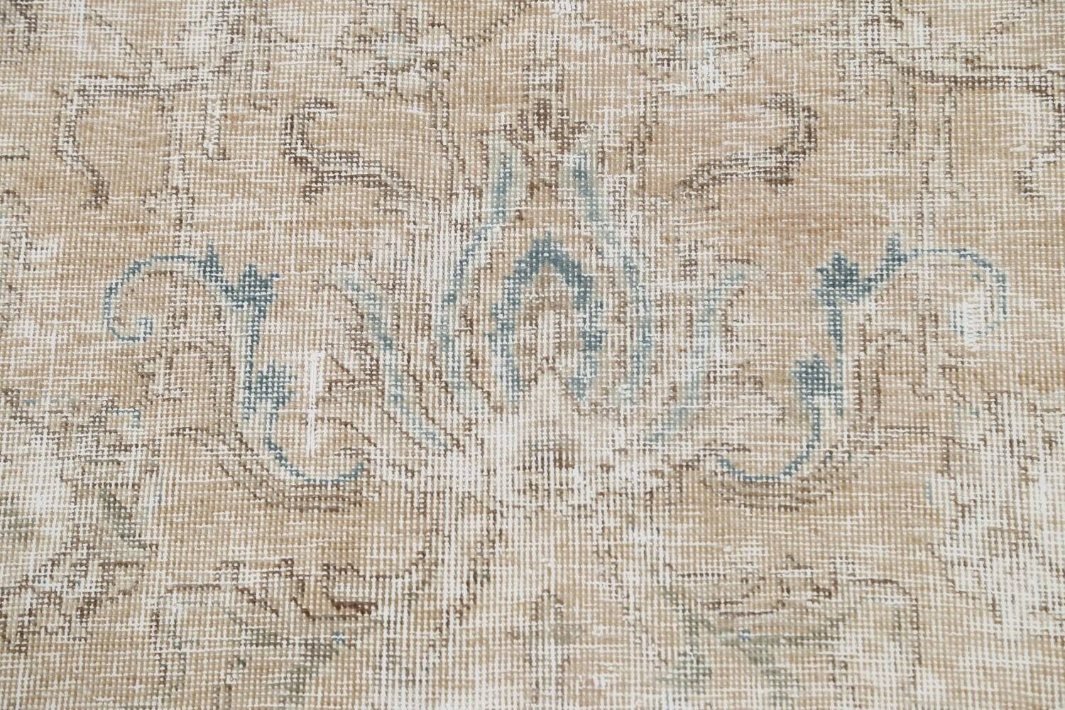 Muted Floral Tabriz Persian Area Rug 10x11 image 10