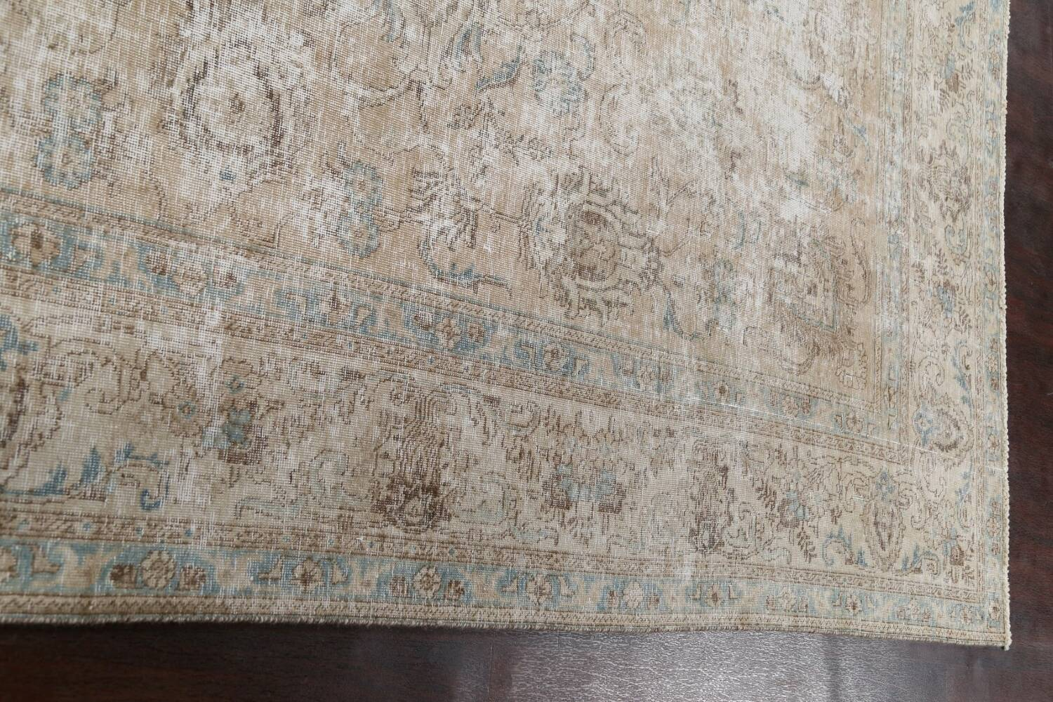 Muted Floral Tabriz Persian Area Rug 10x11 image 13