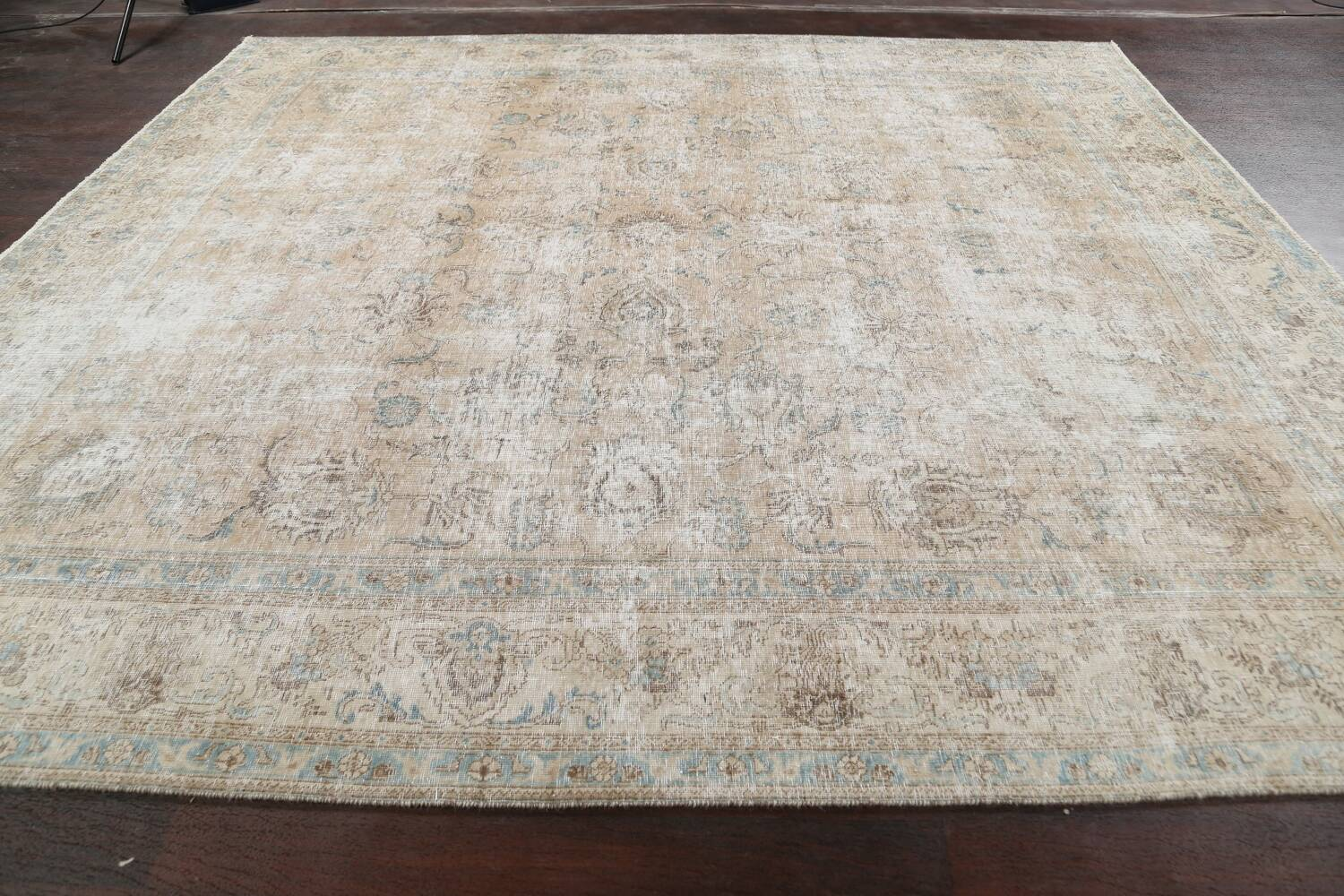 Muted Floral Tabriz Persian Area Rug 10x11 image 14
