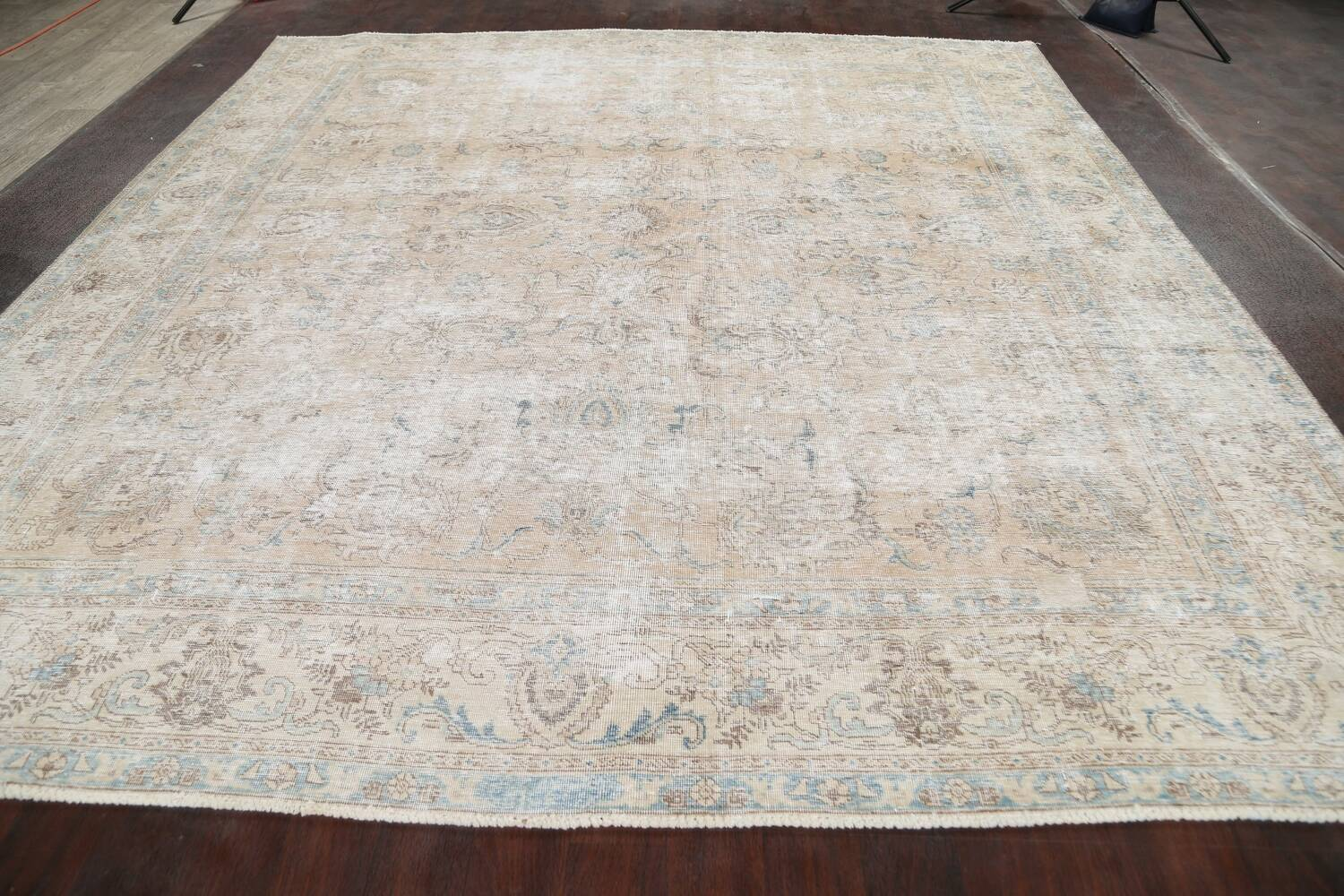 Muted Floral Tabriz Persian Area Rug 10x11 image 15