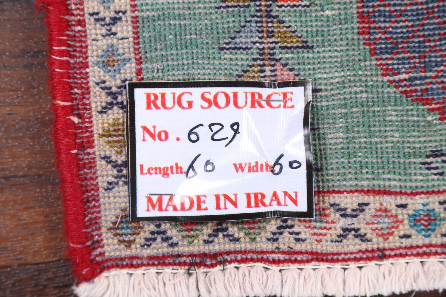 Pictorial Kashmar Persian Area Rug 2x2 Square image 12