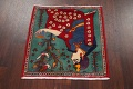 Pictorial Kashmar Persian Area Rug 2x2 Square image 8