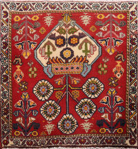 Geometric Shiraz Persian Area Rug 2x2 Square
