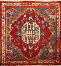 Geometric Abadeh Persian Area Rug 2x2 Square