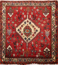 Tribal Abadeh Persian Area Rug 2x2 Square