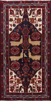 Animal Pictorial Balouch Persian Area Rug 3x6