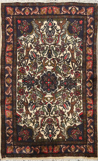 Animal Pictorial Bidjar Persian Area Rug 3x5