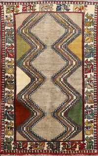 Tribal Shiraz Persian Area Rug 3x5