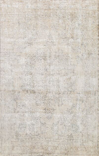 Muted Distressed Tabriz Persian Area Rug 9x11