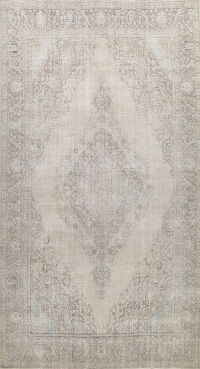 Muted Distressed Tabriz Persian Area Rug 10x15