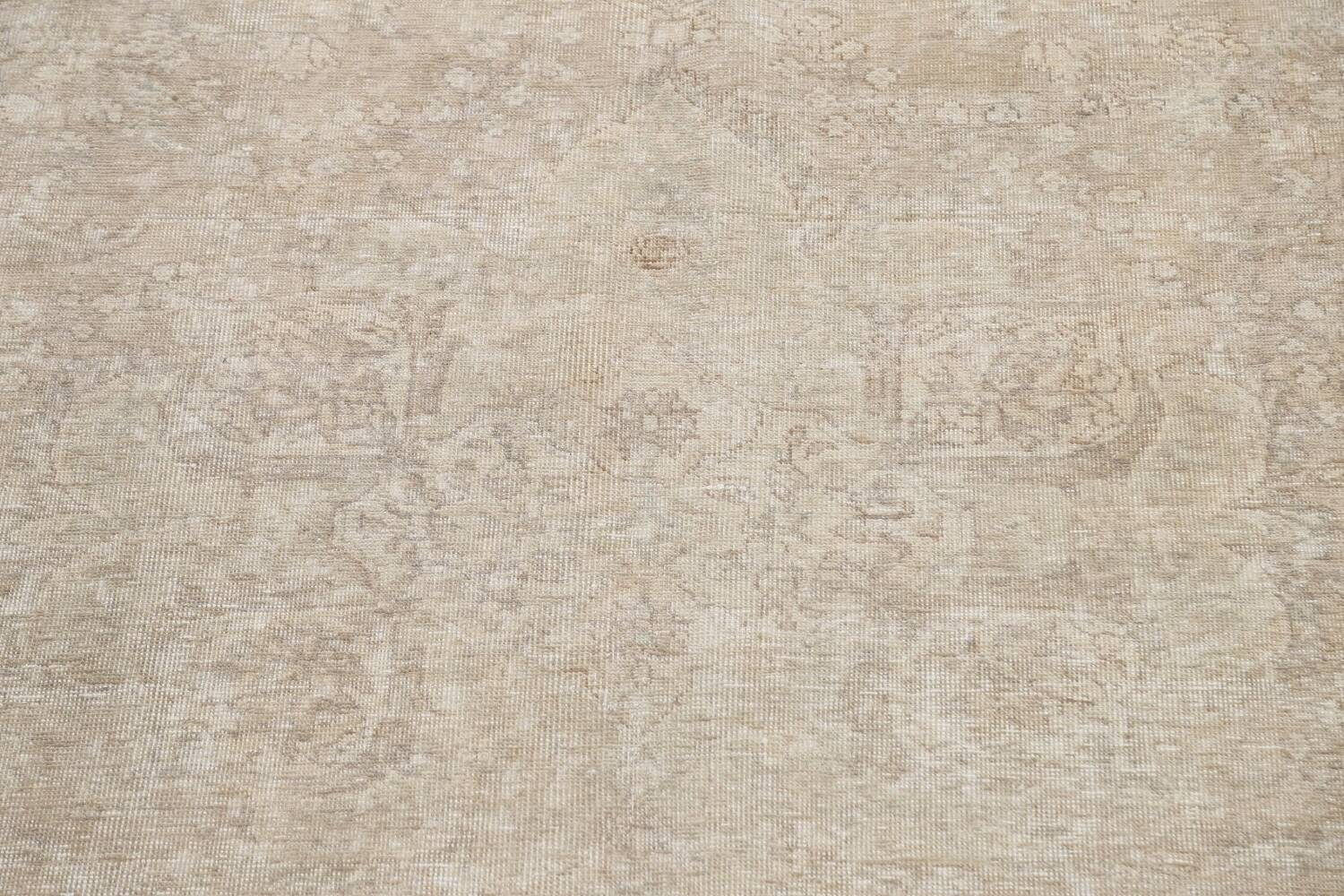 Muted Distressed Tabriz Persian Area Rug 9x12 image 4