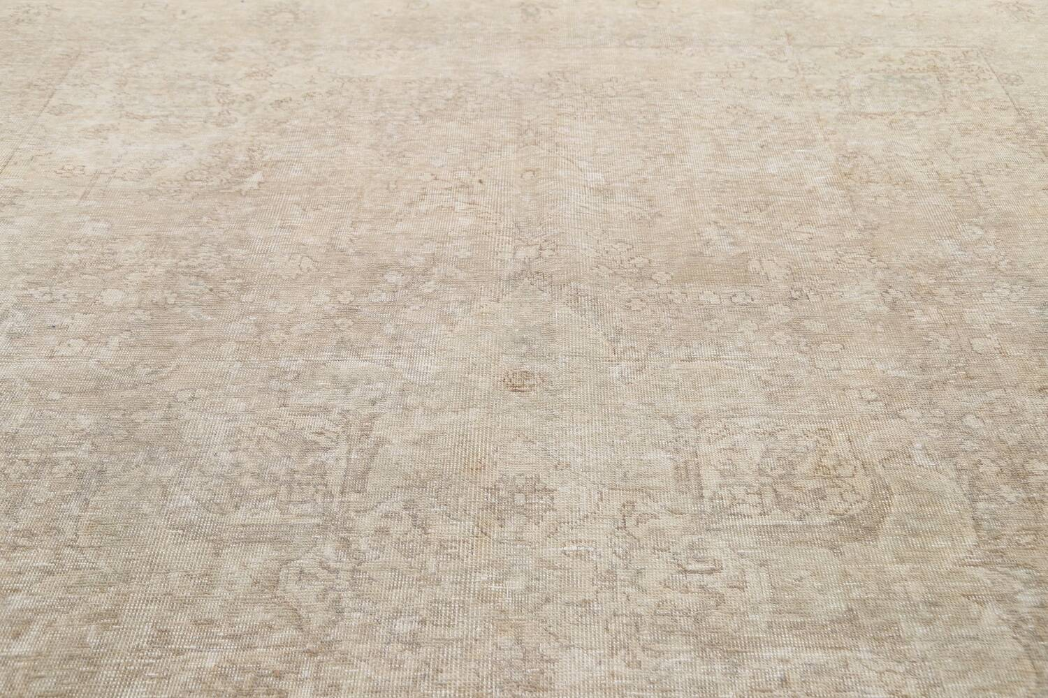 Muted Distressed Tabriz Persian Area Rug 9x12 image 11