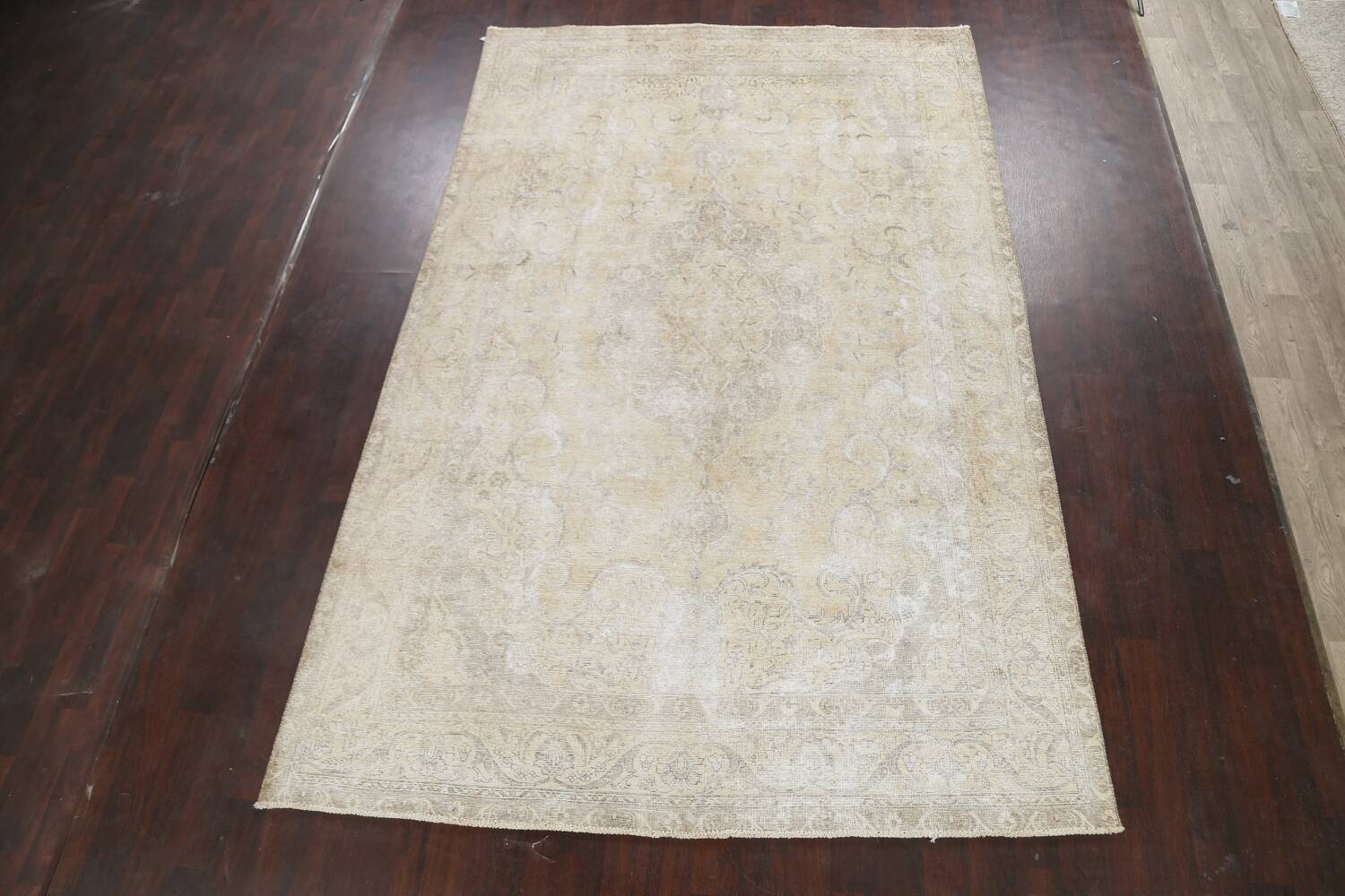 Muted Distressed Tabriz Persian Area Rug 8x12 image 2