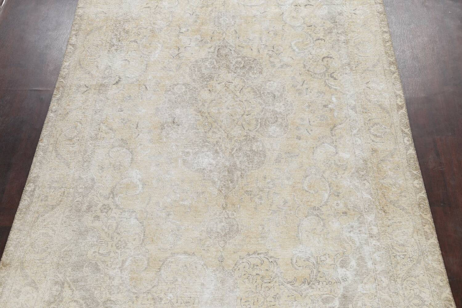 Muted Distressed Tabriz Persian Area Rug 8x12 image 3