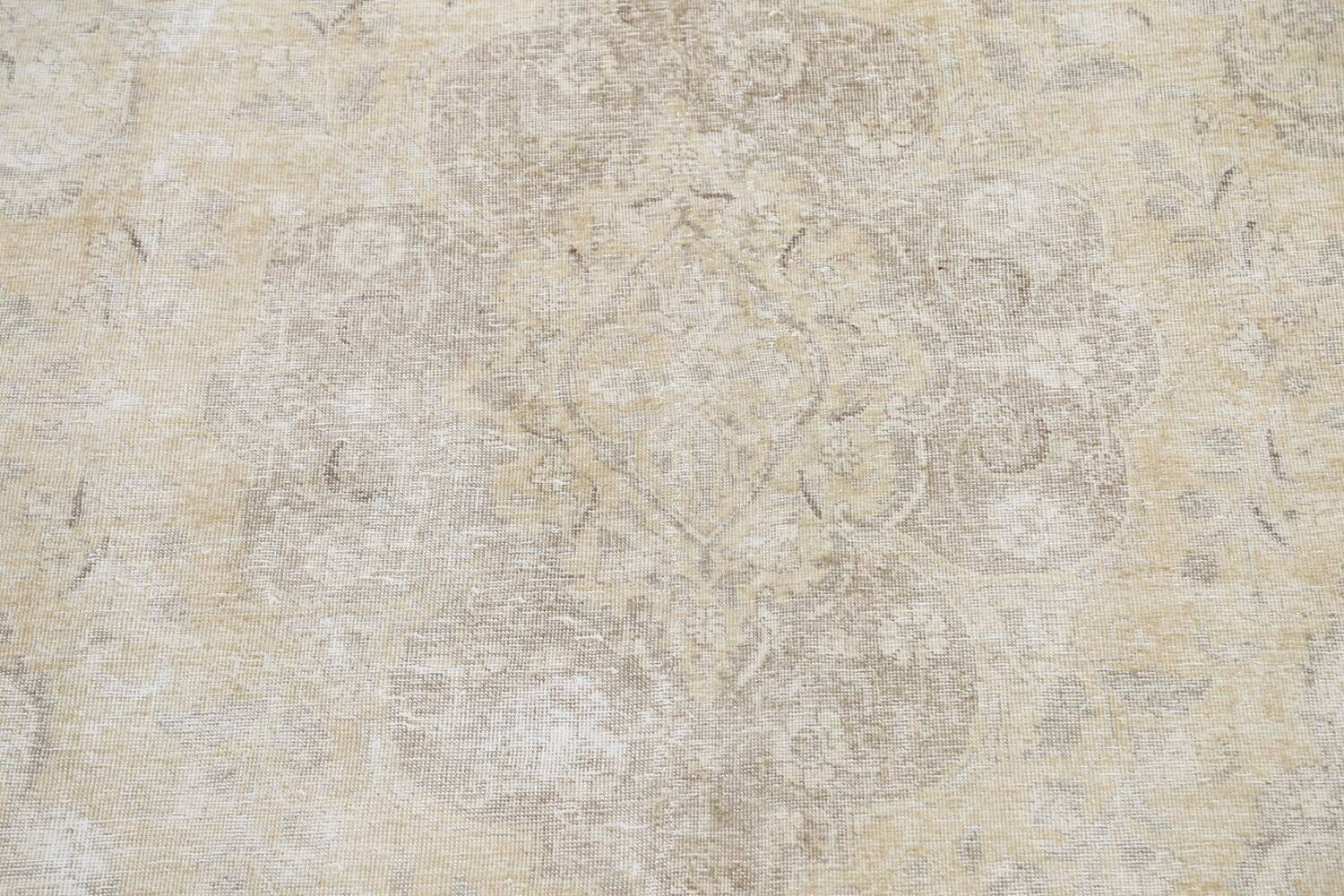 Muted Distressed Tabriz Persian Area Rug 8x12 image 4
