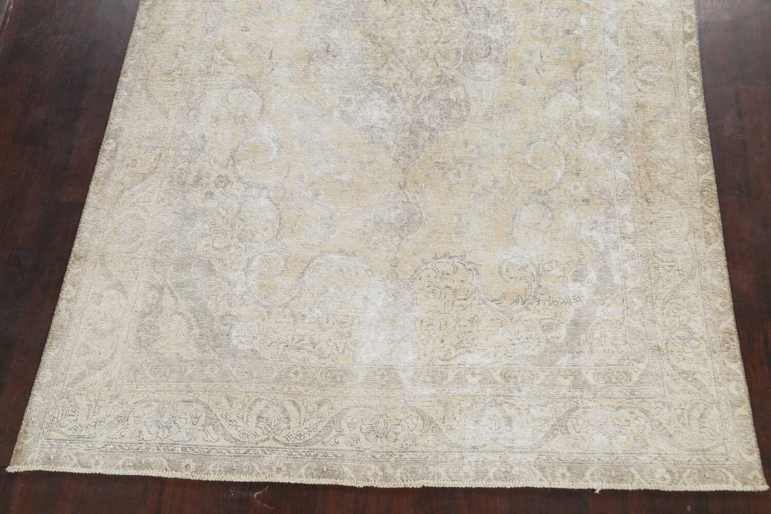 Muted Distressed Tabriz Persian Area Rug 8x12 image 8