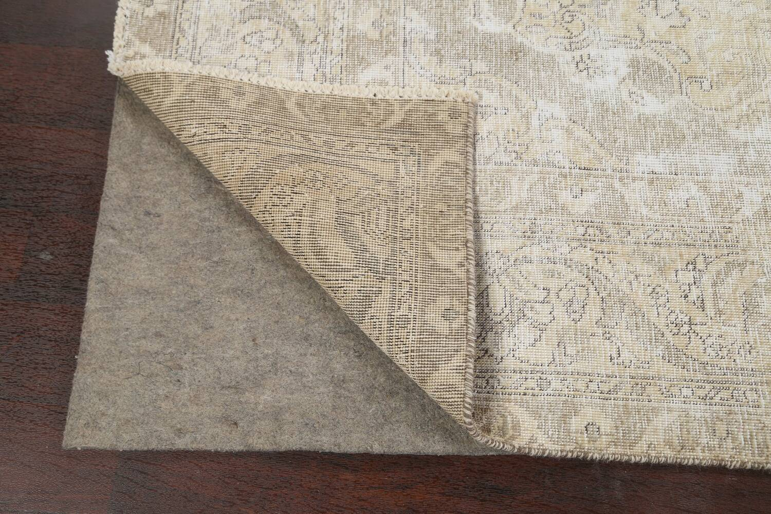 Muted Distressed Tabriz Persian Area Rug 8x12 image 7