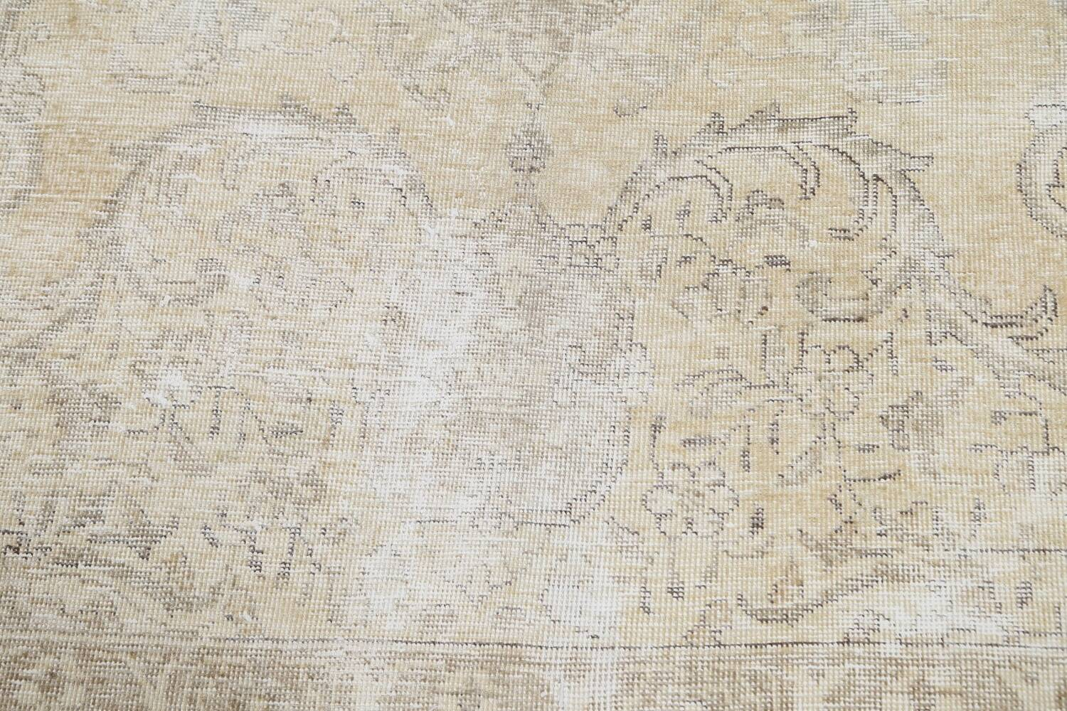 Muted Distressed Tabriz Persian Area Rug 8x12 image 10
