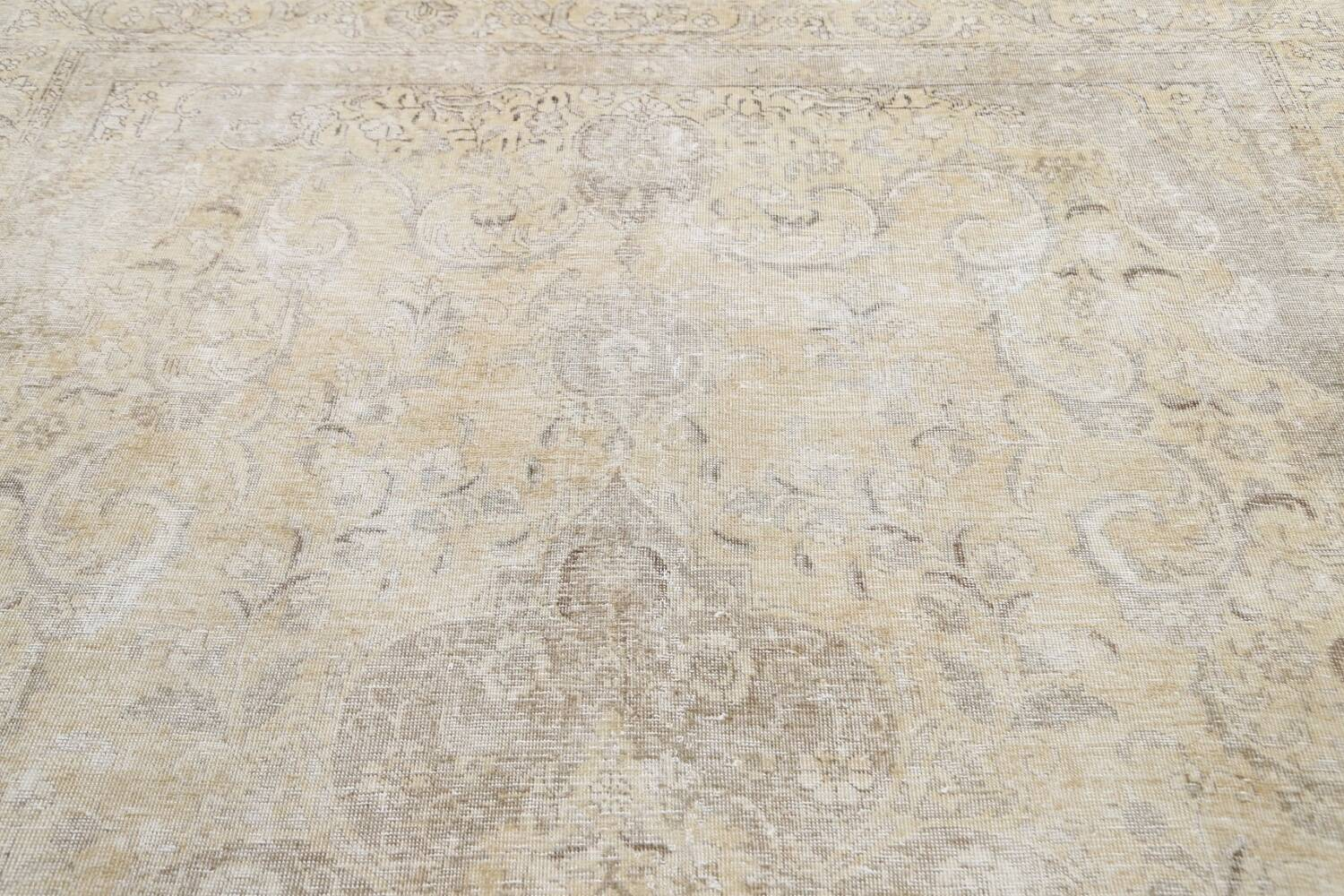 Muted Distressed Tabriz Persian Area Rug 8x12 image 13