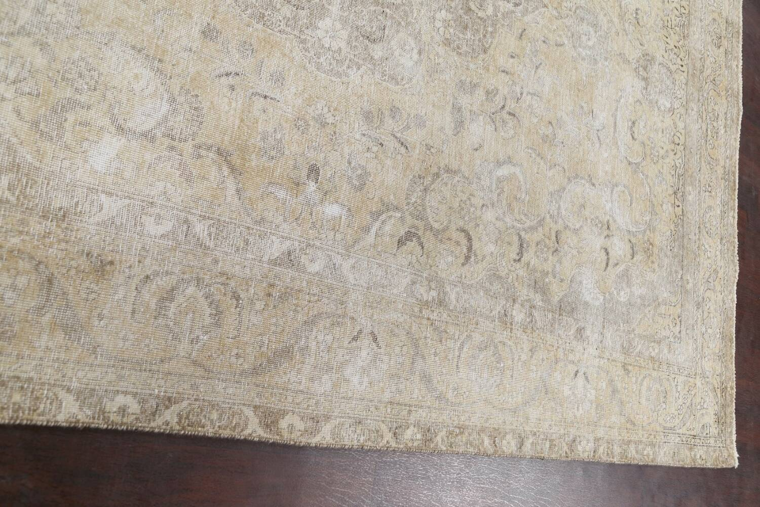 Muted Distressed Tabriz Persian Area Rug 8x12 image 14